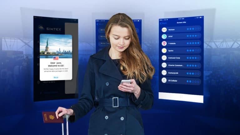 מהפכת הסלולר - אישה ממתינה בדרכונים ומזמינה חבילה - Simtex