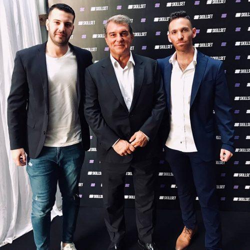 מייסדי Seedbiz דניאל קוגלר וניצן פלג יחד עם ז'ואן לאפורטה