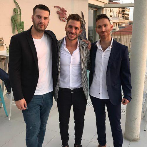 מייסדי Seedbiz, דניאל קוגלר וניצן פלג יחד עם שאבי חכמון, מייסד Skillset